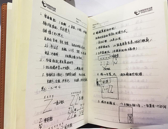 中国电建集团学员的课堂笔记