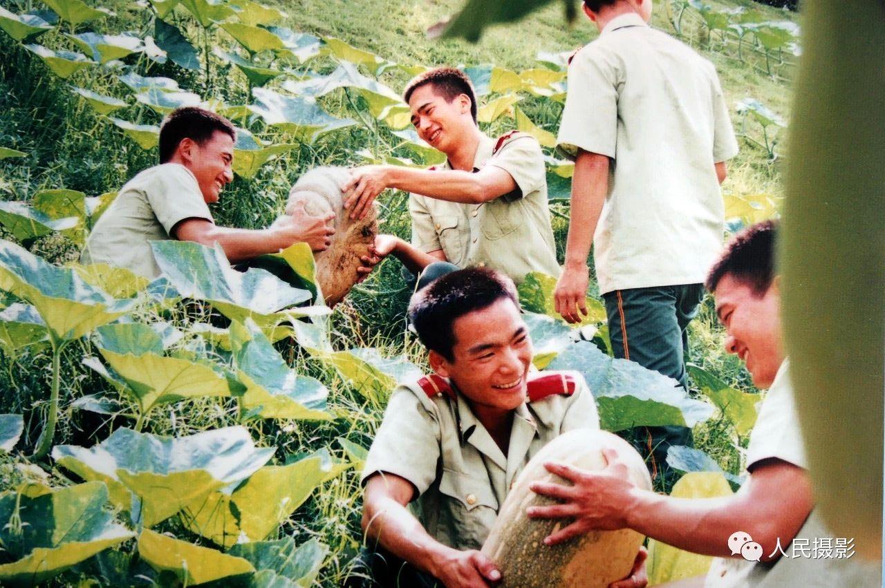1998年,深圳边防战士官兵发扬南泥湾精神做到蔬菜自给 ,在深圳河边开荒种地,瓜果丰收