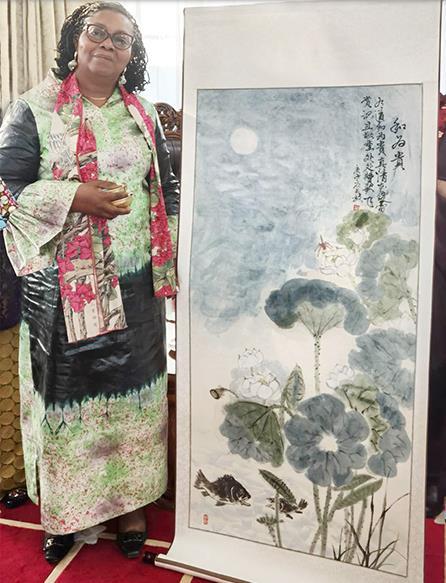 中非艺术交流之中国书画艺术走进大使馆
