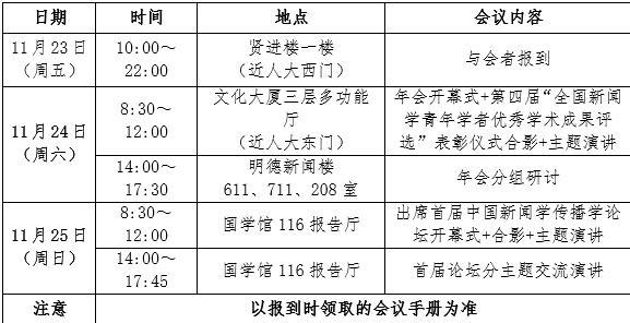 第十一届(2018)中国新闻学年会会议通知